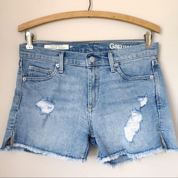 GAP Pants - GAP Summer Short Destroyed Denim Cut-Offs